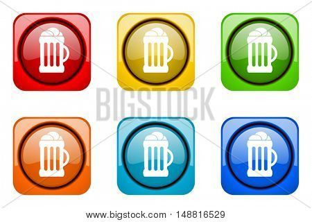 beer colorful web icons