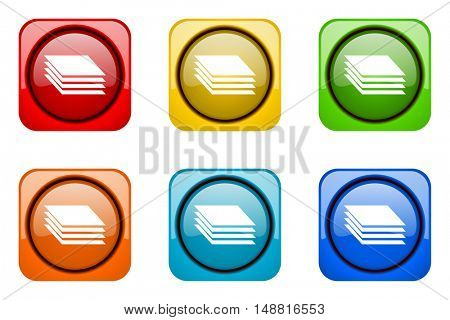 layers colorful web icons