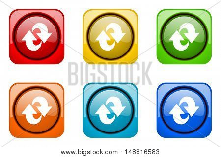 rotation colorful web icons