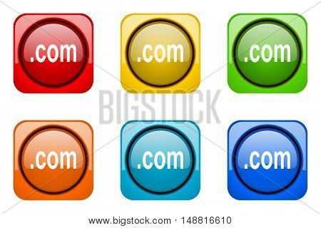 com colorful web icons