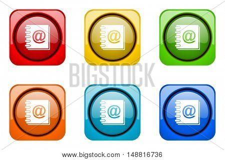 address book colorful web icons