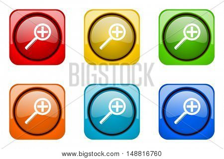 lens colorful web icons
