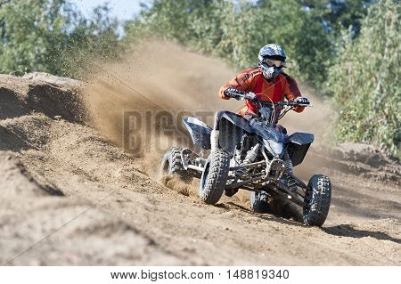 ATV Rider driving in the quadbike race