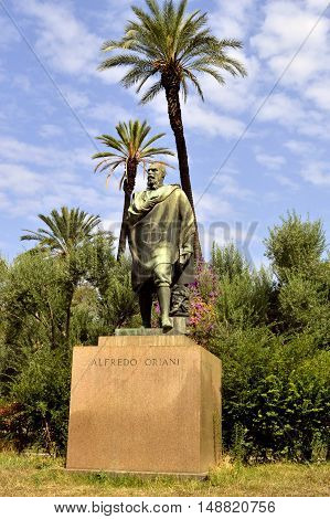 Rome Italy - September 11 2016 : Statue of Alfredo Oriani an Italian author and writer