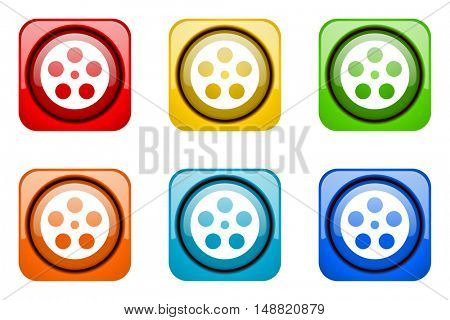 film colorful web icons