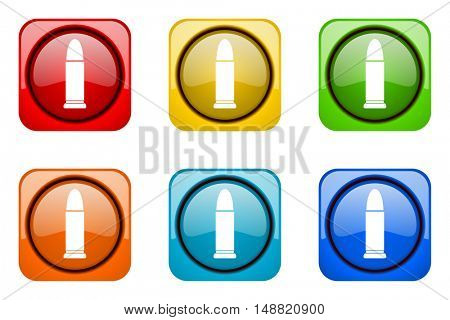 ammunition colorful web icons