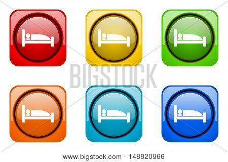 hotel colorful web icons