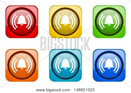 alarm colorful web icons