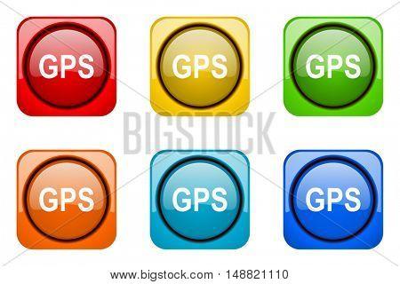 gps colorful web icons