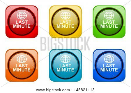 last minute colorful web icons