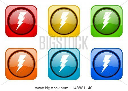 bolt colorful web icons