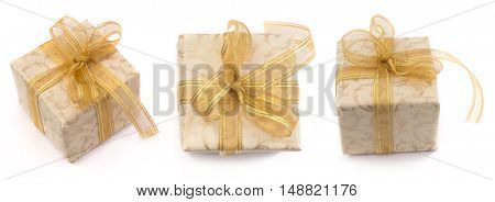 Decorative gift boxes isolated