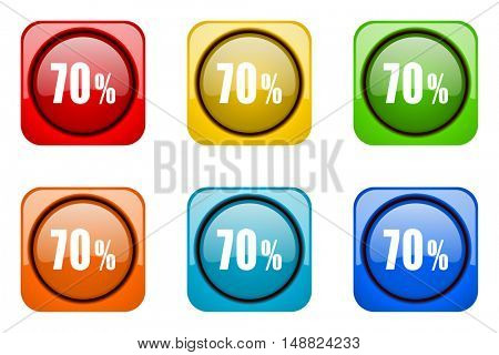 70 percent colorful web icons