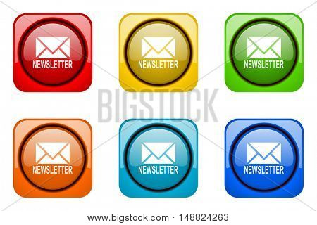 newsletter colorful web icons