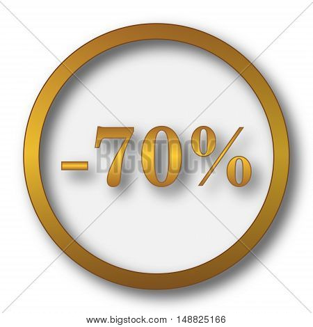 70 Percent Discount Icon