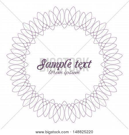 Vector Illustration ornamental design element geometric shapes, vintage