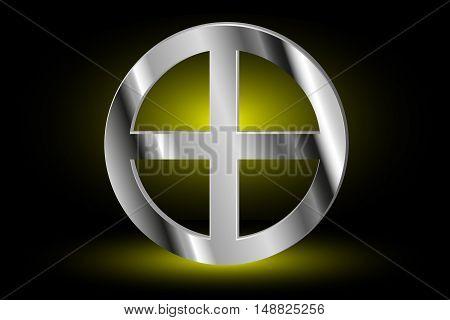 Celtic cross , cross in a circle ,
