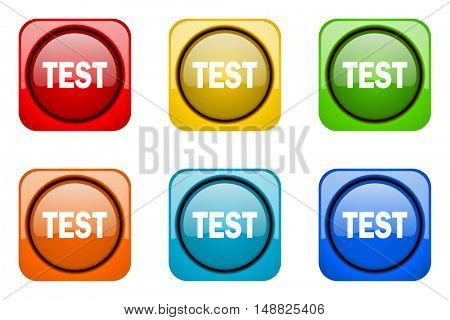 test colorful web icons