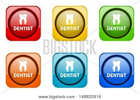 dentist colorful web icons