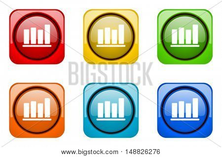 bar chart colorful web icons