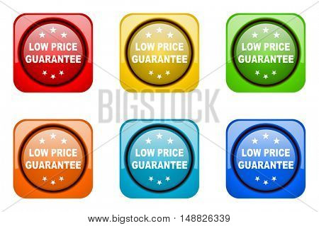 low price guarantee colorful web icons
