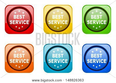 best service colorful web icons