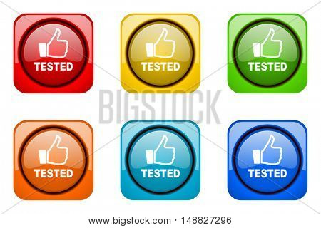 tested colorful web icons