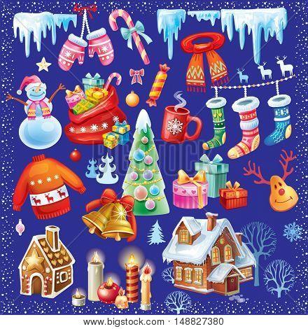 Set of Christmas symbols