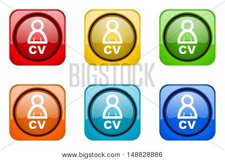 cv colorful web icons
