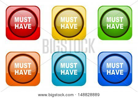 must have colorful web icons