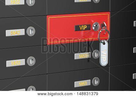 vip safe deposit boxes banking 3D rendering