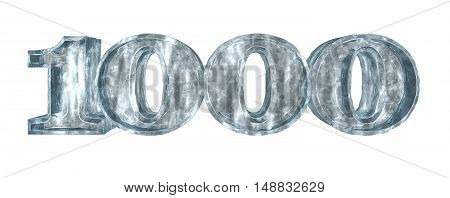 frozen thousand on white background - 3d rendering