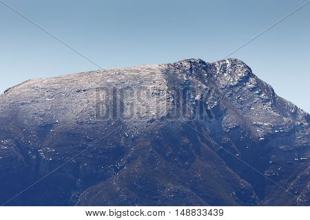 Close Up Of Snow On Mountain Range