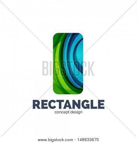 Vector rectangle logo, abstract template