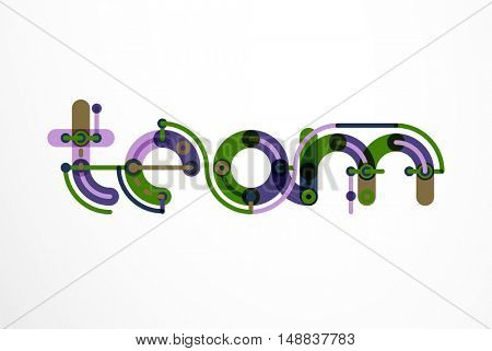Line letter design. Logo concept