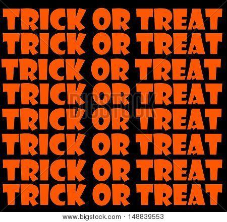 Abstract Creative Trick or Treat Halloween Greeting Card Scene