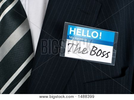 Close-Up Of A Humorous Nametag