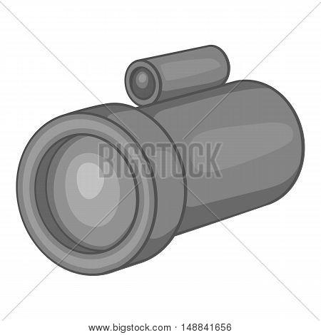 Lantern icon in black monochrome style isolated on white background. Light symbol vector illustration