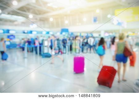 Passengers in an airport