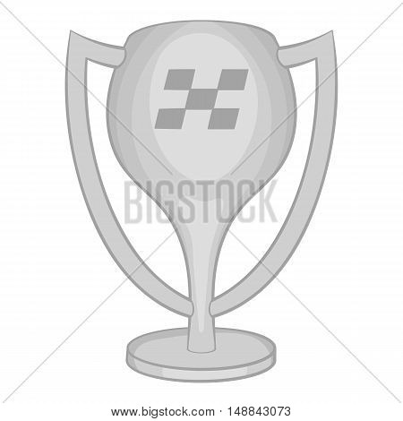 Cup for first place icon in black monochrome style isolated on white background. Win symbol vector illustration