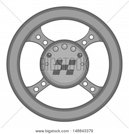 Racing rudder icon in black monochrome style isolated on white background. Sport equipment symbol vector illustration