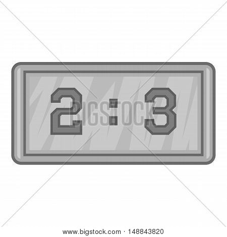 Football score icon in black monochrome style isolated on white background. Sport symbol vector illustration