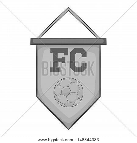 Flag football team icon in black monochrome style isolated on white background. Sport symbol vector illustration