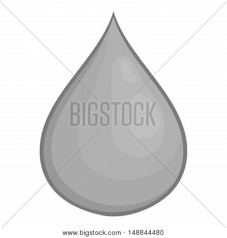 Drop of honey icon in black monochrome style isolated on white background. Food symbol vector illustration