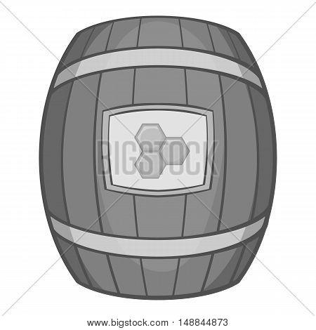 Barrel of honey icon in black monochrome style isolated on white background. Food symbol vector illustration