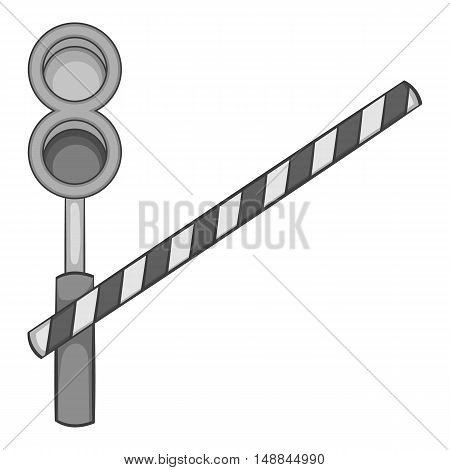 Train barrier icon in black monochrome style isolated on white background. Fence symbol vector illustration