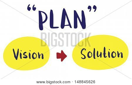 Plan Strategy Success Vision Solution Graphic Concept