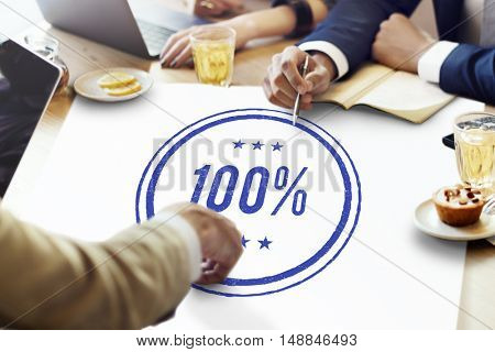 100% Approved Guarantee Quality Certificate Trustworthy Concept
