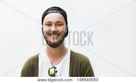 Caucasian Ethnicity Handsome Man Cheerful Concept