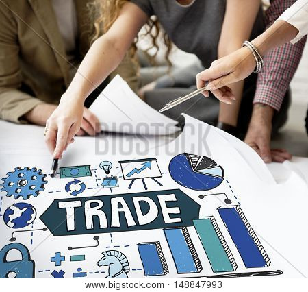 Trade Transection Business Economy Swap Concept